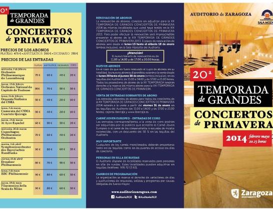 (20ª Temporada de Grandes Conciertos de Primavera 2014) 1