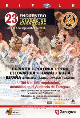"""EIFOLK 2014. Encuentro Internacional de Folklore """"Ciudad deZaragoza"""""""