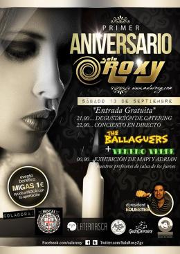 Fiesta Primer Aniversario de la SalaRoxy
