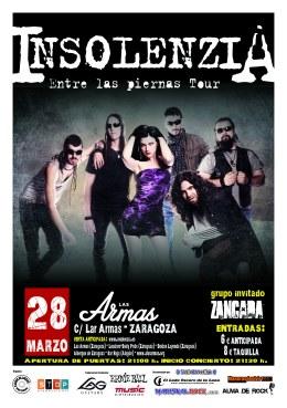 """Insolenzia y su """"Entre las Piernas Tour"""" en la Sala LasArmas"""