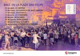 """""""Baile de plaza en la plaza"""" en la Plaza de SanFelipe"""