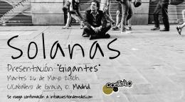 """Solanas presenta """"Gigantes"""" en el Costello Club deMadrid"""