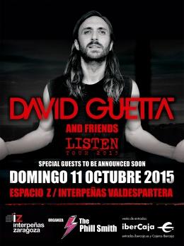 """David Guetta el 11 de octubre actuará en Zaragoza en el """"Espacio Z"""" deInterpeñas"""