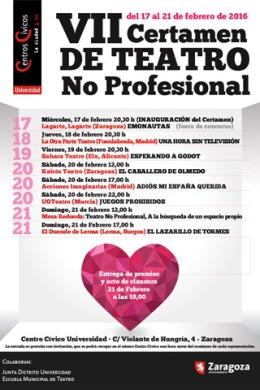 """VII Certamen de Teatro No Profesional """"Cívico Universidad"""""""