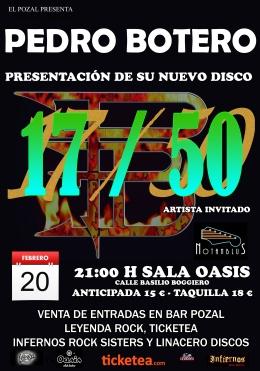Pedro Botero presentará su nuevo disco en la salaOasis