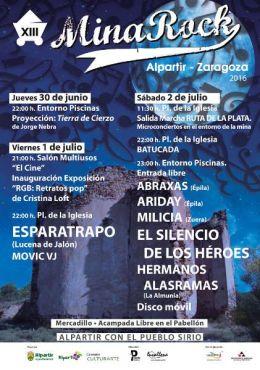 XIII MinaRock del 30 de junio al 2 de julio enAlpartir