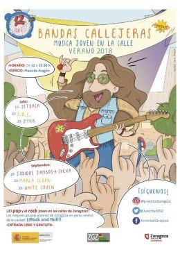 """Música joven en la calle """"Bandas Callejeras"""", septiembre 2018 enZaragoza"""